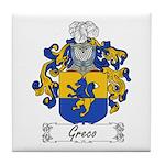 Greco Family Crest Tile Coaster