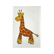 Happy Giraffe Rectangle Magnet (10 pack)