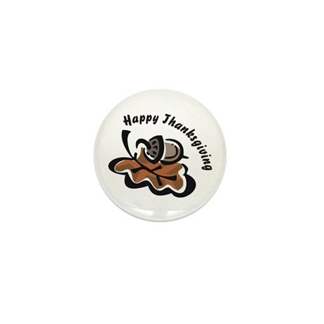Happy Thanksgiving Mini Button (100 pack)