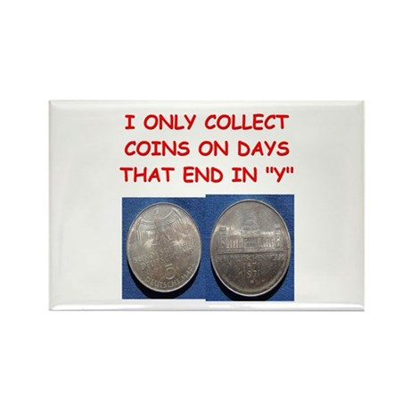 coin collector Rectangle Magnet (100 pack)