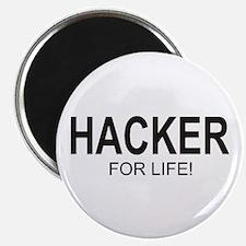Hacker For Life Magnet