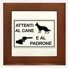 Beware the Dog and the Master Framed Tile