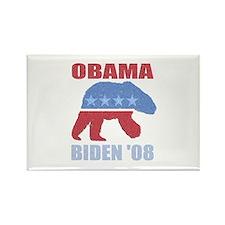 Obama Biden '08 Polar Bear De Rectangle Magnet