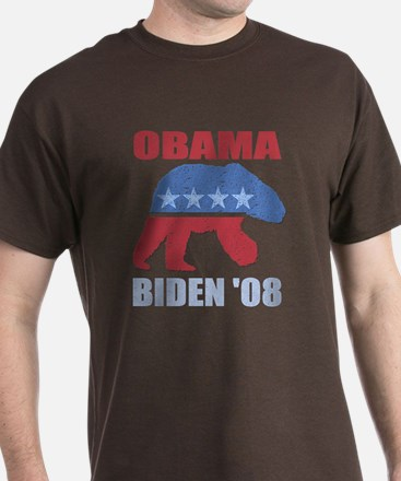 Obama Biden '08 Polar Bear De T-Shirt