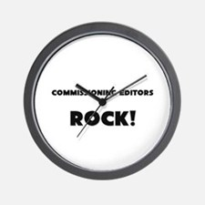 Commissioning Editors ROCK Wall Clock