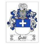 Gritti Family Crest Small Poster