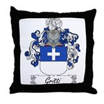 Gritti Family Crest Throw Pillow