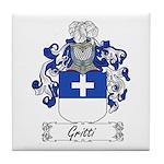 Gritti Family Crest Tile Coaster