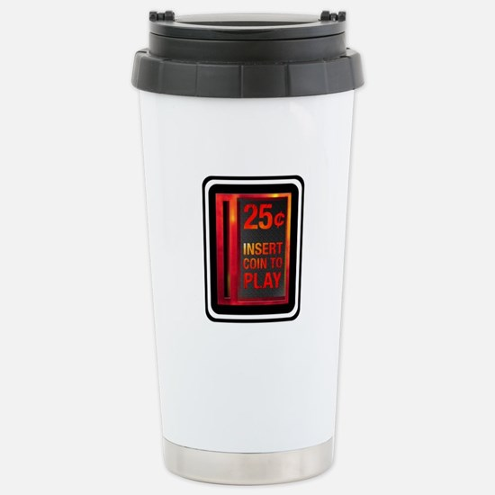 INSERT COIN TO PLAY Stainless Steel Travel Mug