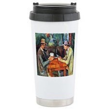 The Card Players Travel Mug