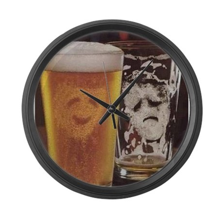 1 Picture, 1000 Words Large Wall Clock