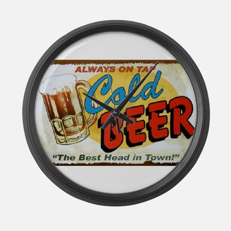 Cold Beer ! Large Wall Clock