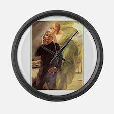 Albert Maignan - Green Muse Large Wall Clock