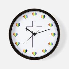 Jesus Pride Love Wall Clock