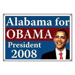 Alabama for Obama campaign banner