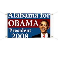 Alabama for Obama campaign banner