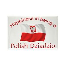 Happy Polish Dziadzio Rectangle Magnet
