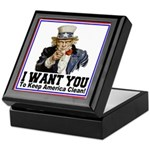 To Keep America Clean Keepsake Box