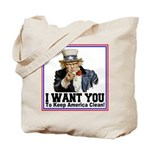 To Keep America Clean Tote Bag