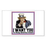 To Keep America Clean Rectangle Sticker 50 pk)