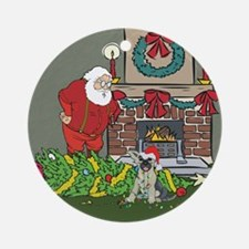 Santa's Helper German Shepard Ornament (Round)