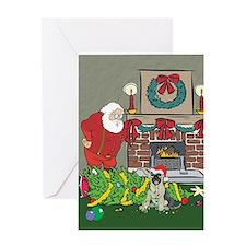 Santa's Helper German Shepard Greeting Card