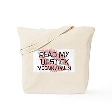 McCain Palin Lipstick Tote Bag