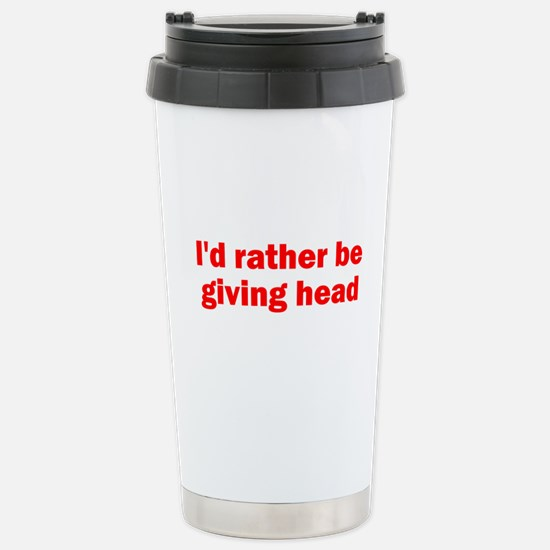 Giving Head Stainless Steel Travel Mug