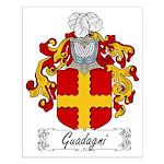 Guadagni Family Crest Small Poster