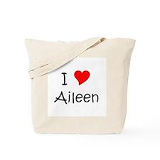 Cute I love aileen Tote Bag