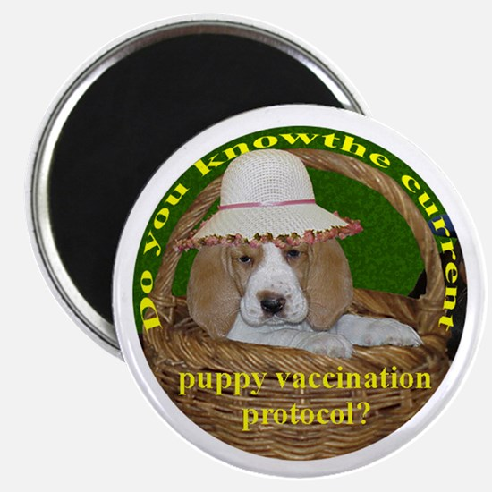 Puppy Vaccination Protocol Magnet