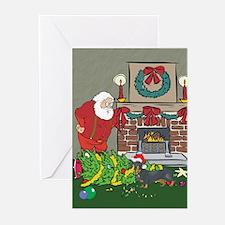 Santa's Helper Dachshund Greeting Cards (Pk of 10)