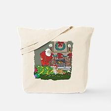 Santa's Helper Welsh Corgi Tote Bag