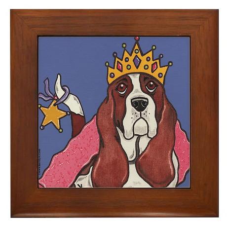 Royal Basset Hound Framed Tile