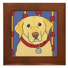 The Yellow Lab Framed Tile