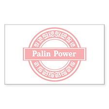 Palin Power (Pink) Rectangle Decal