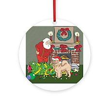 Santa's Helper Chow Chow Ornament (Round)