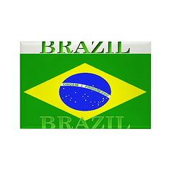 Brazil Brazilian Flag Rectangle Magnet (100 pack)