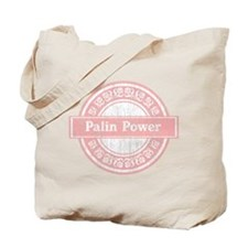 Palin Power (Faded Pink) Tote Bag