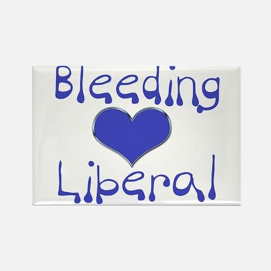 Bleeding Heart Liberal Rectangle Magnet