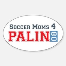 Palin Soccer 2 Oval Decal