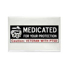 Medicated for Your Protection Rectangle Magnet
