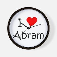 Cute I love abram Wall Clock