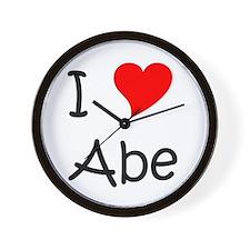 Cute I love abe Wall Clock