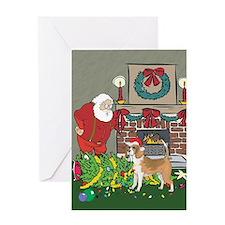 Santa's Helper Beagle Greeting Card