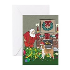 Santa's Helper Beagle Greeting Cards (Pk of 10)
