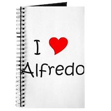 Unique I love alfredo Journal