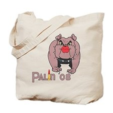 Palin PitBull with Lipstick Tote Bag