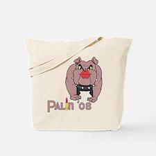 Palin PitBull with Lipstick Tote Bag