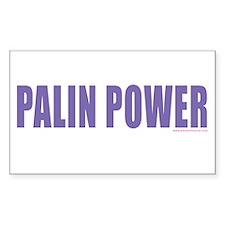 PALIN POWER!!! Rectangle Decal